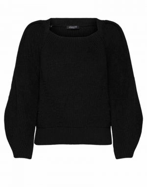Selected Femme Gry Square Neck Knit Jumper