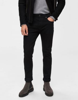Selected Homme Leon Jeans in Black
