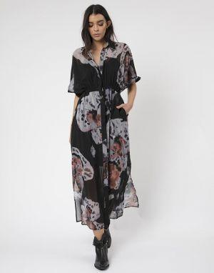 Religion Observation Maxi Dress in Floret Dark