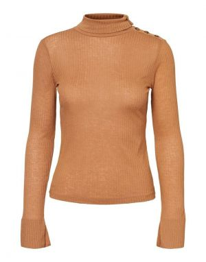 Vero Moda Carla Turtleneck in Brown