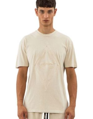Religion Acid Embossed T-shirt in Safari