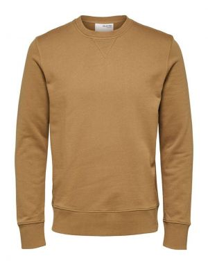 Selected Homme Jason Crew Neck Sweat in Ermine