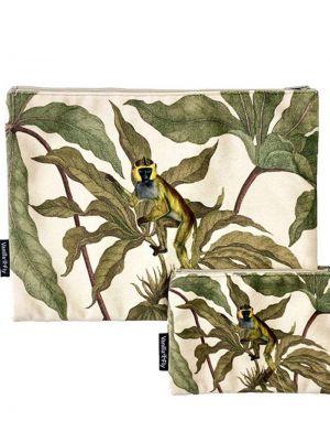 Vanilla Fly Velvet Pouch Large - Print 19