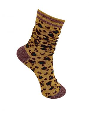 Black Colour Leo Socks in Mustard