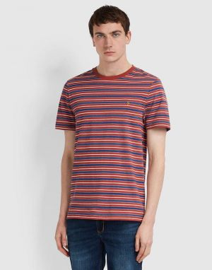 farah mansour t-shirt in red