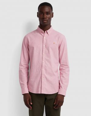 farah steen shirt in dusty rose