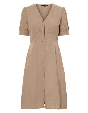 Vero Moda Kassandra Knee Dress in Nomad