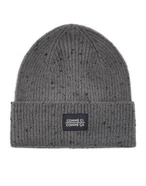 Pieces Sylba Beanie Hat in Grey
