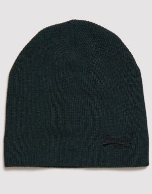 Superdry Orange Label Beanie in Black Pine Grit