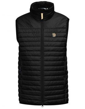 Mens ribbed fjallraven padded abisko vest in black