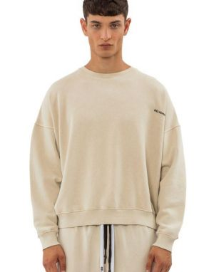 Religion Acid Embossed Sweater in Safari