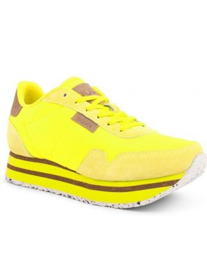 Woden Nora Plateau Trainers in Neon Yellow