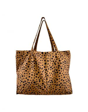Black Colour MY BIG Shopper Bag in Camel