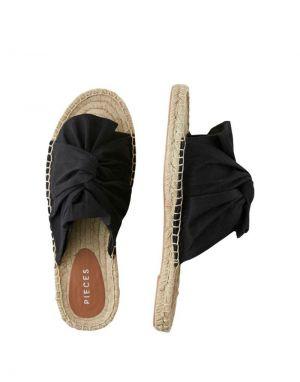 Pieces Alira Espadrille Sandals in Black