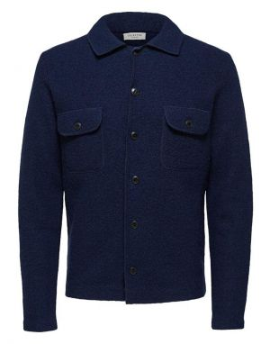 Selected Homme Neal Workwear Cardigan in Sky Captain