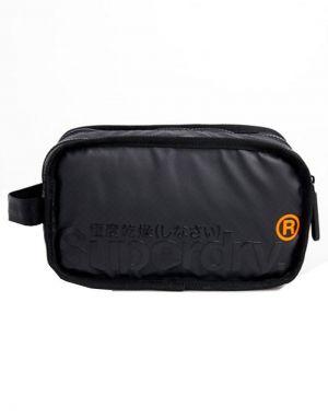 Superdry Tarp Wash Bag in Black