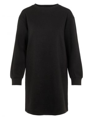 Pieces Chilli Long Lounge Sweater Dress in Black