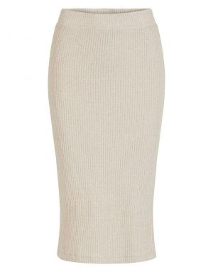 Vila Bamina Knitted Midi Pencil Skirt