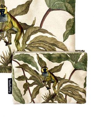 Vanilla Fly Velvet Pouch Small - Print 19