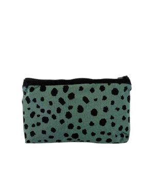 Black Colour MY SPOT Cosmetics Purse in Green