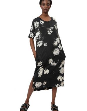 Religion Flow Kaftan T-shirt Dress in Orchard Print