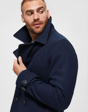 Selected Homme Sustainable Icons Peacoat in Sky Captain