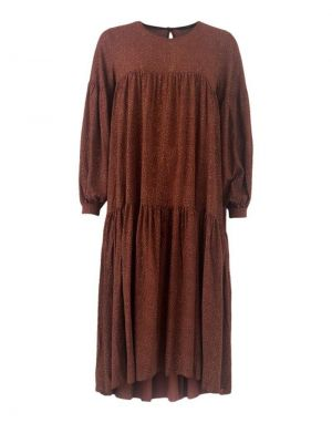 Black Colour Lex Oversized Dress in Mocha