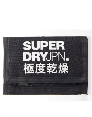 Superdry Tri Fold Wallet in Black