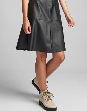 Numph Belen Faux Leather Skirt