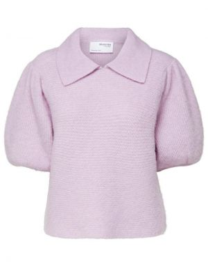 Selected Femme Biaz Knitted Polo Jumper