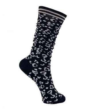 Black Colour Leo Knee Socks