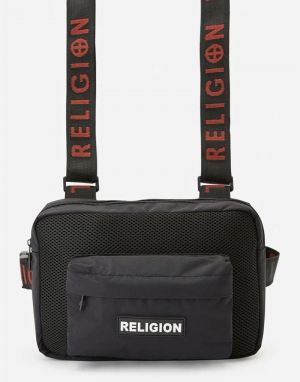 Religion Garnet Harness Bag in Black
