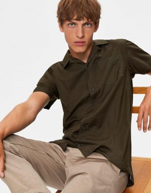 Selected Homme Marco Resort Shirt in Peat