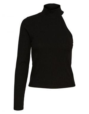 Vero Moda Sadie One Sleeve Top in Black