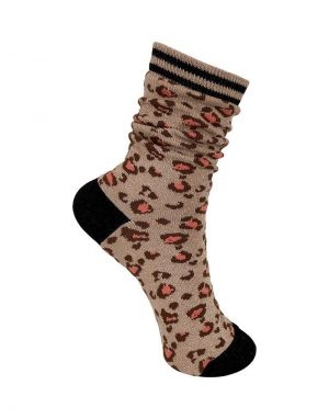Black Colour Leo Sock in Frappe