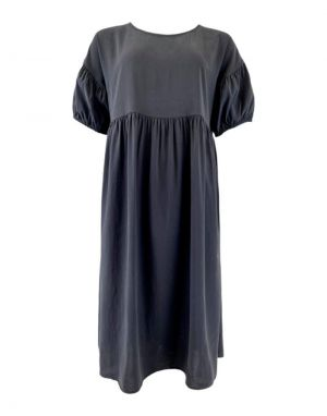 Black Colour Kenza Cupro Midi Dress