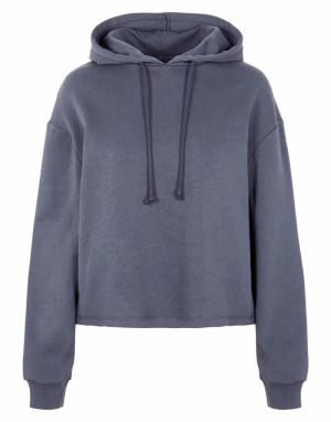 Pieces Chilli Washed Hoodie in Ombre Blue