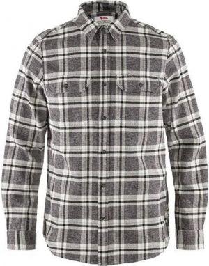 Fjallraven Ovik Heavy Flannel Shirt in Dark Grey