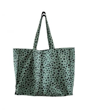 Black Colour MY BIG Shopper Bag in Blue