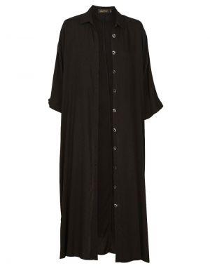 Eb and Ive Mahala Shirt Dress in Onyx