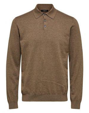 Selected Homme Berg Polo Shirt in Teak