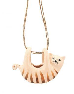 Cat Hanging Planter