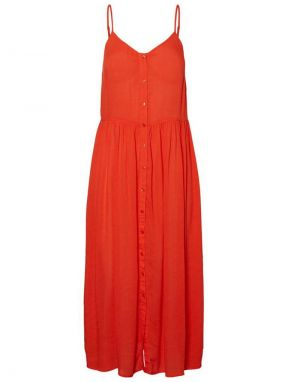 Vero Moda Morning Midi Dress in Cherry
