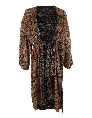 Black Colour Luna Kimono Jacket in Cobber