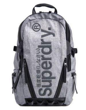 Superdry Coated Marl Tarp Backpack in Light Marl