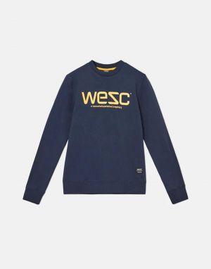 wesc logo sweatshirt in navy