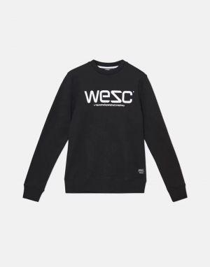 mens wesc swedish logo sweat in black