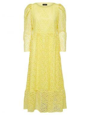 Selected Femme Mya Ankle Dress in Green Sheen