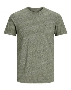 Jack and Jones Melange T-shirt in Dusty Olive Melange