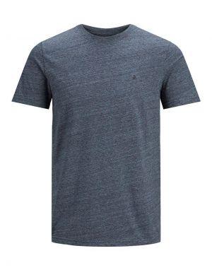 Jack and Jones Melange T-shirt in Maritime Blue Melange